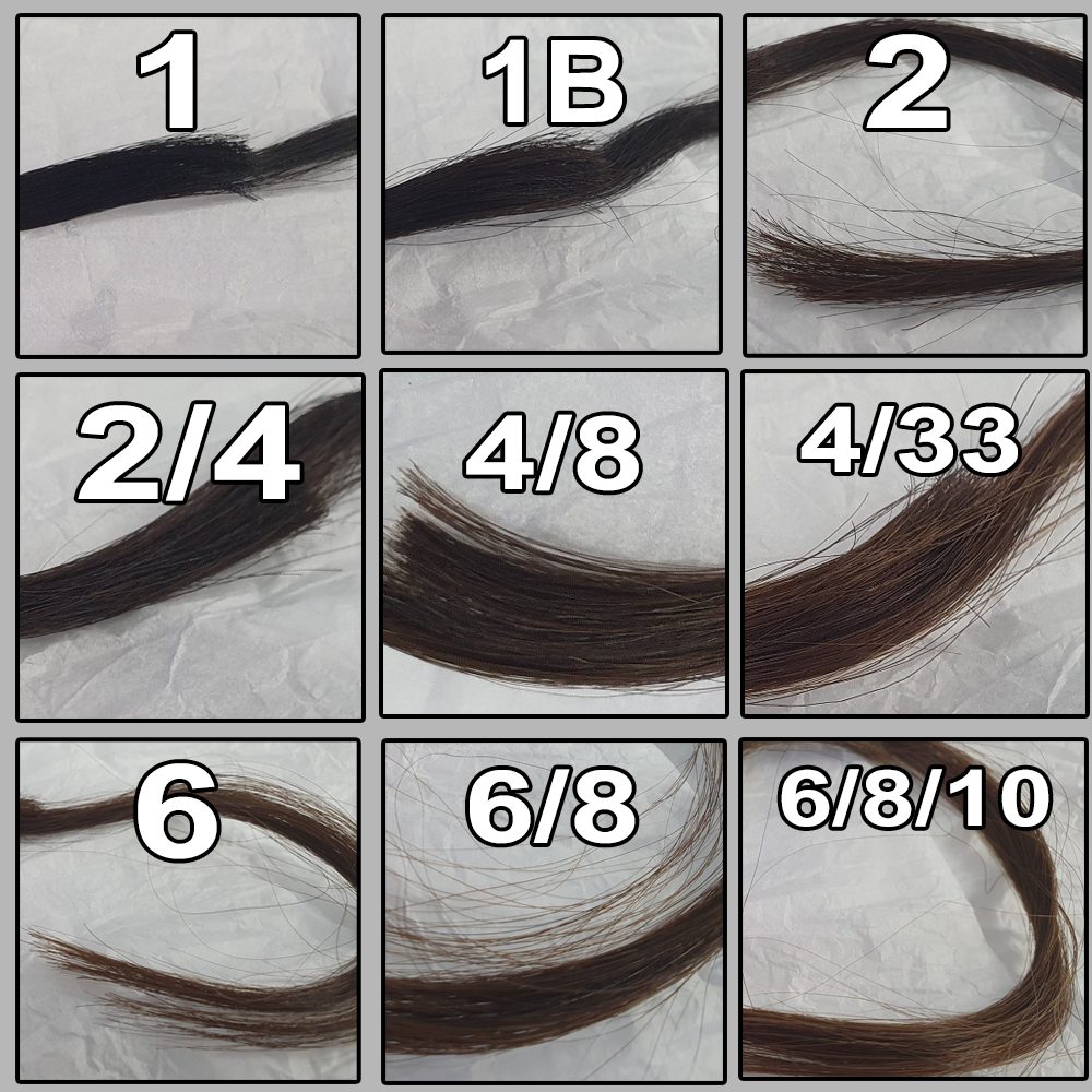 European Hair Swatches 1